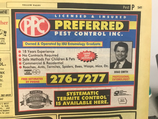 Preferred Pest Control Ad