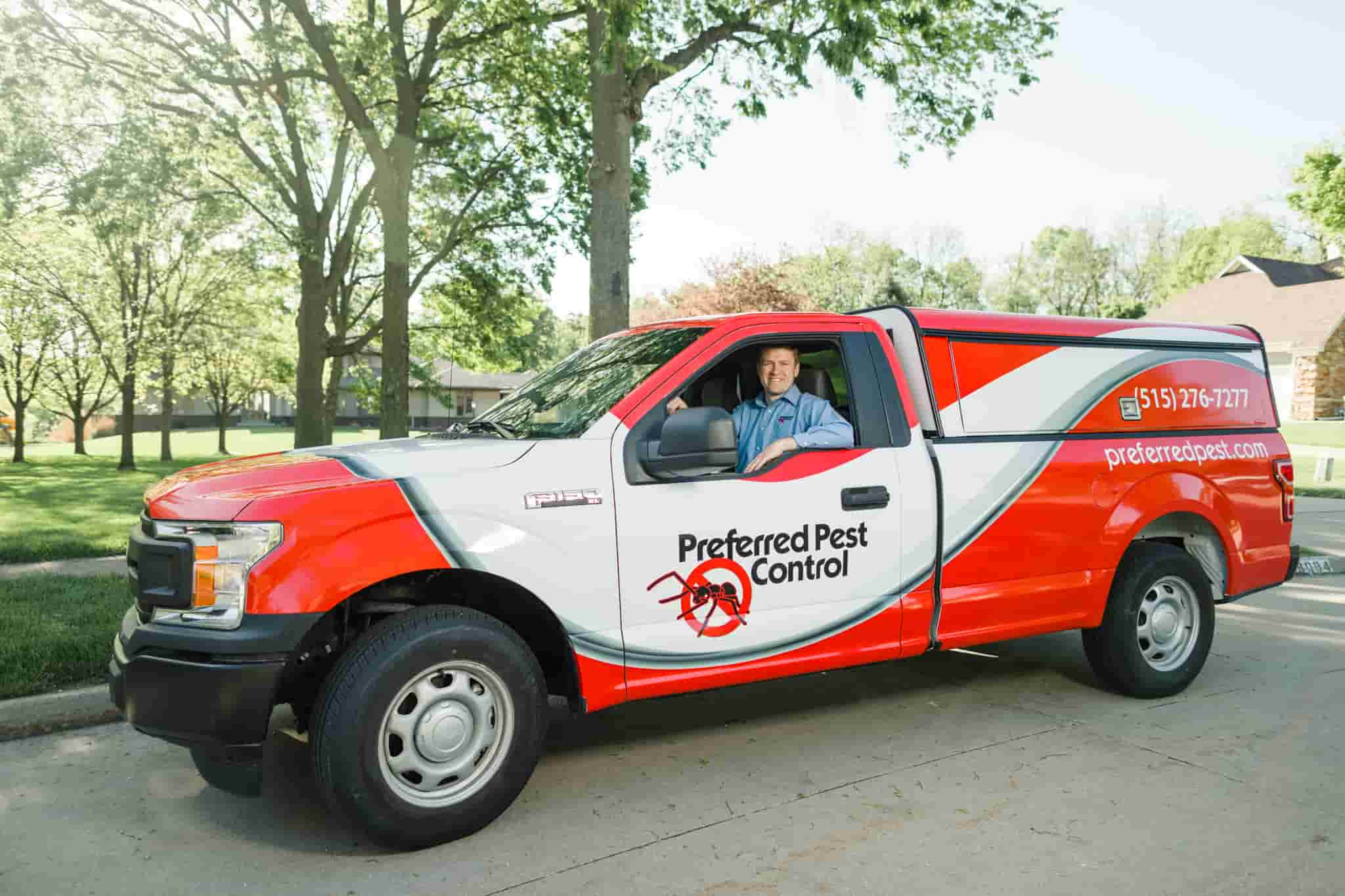 Preferred Pest Truck With Technician